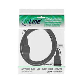 InLine Netzkabelverlängerung, Warmgerätestecker gerade C15