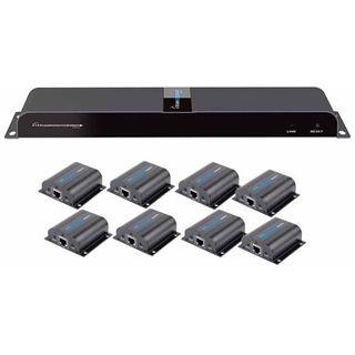 Techly HDMI Extender/Splitter mit IR über RJ45 50m