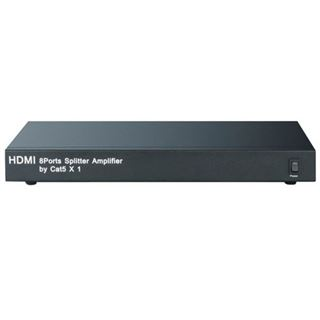Techly HDMI Extender/Splitter 1in/8out, 50m