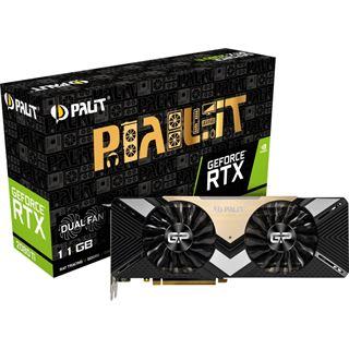 11GB Palit GeForce RTX 2080 Ti Dual Aktiv PCIe 3.0 x16 (Retail)