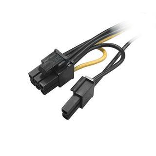 Akasa 2x 15-Pin-SATA auf 1x 6+2-Pin-PCIe Adapter