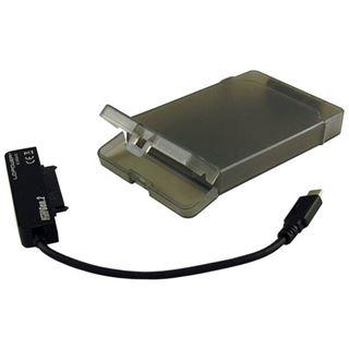 "LC-POWER 2,5"" SATA>USB3.1 LC-25U3-C3 schwarz/transparent"