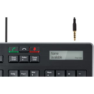 Fujitsu KB950 Phone Keyboard USB Deutsch schwarz (kabelgebunden)
