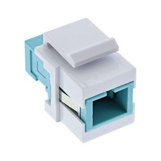 InLine LWL Keystone Snap-in Kupplung weiß, Simplex SC/SC,