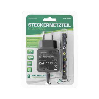 InLine Universal Steckernetzteil, 5V / 15W, mit 8 Wechselstecker,