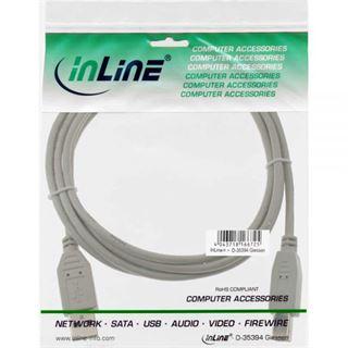 (€3,90*/1m) 1.00m InLine USB2.0 Anschlusskabel USB A Stecker auf