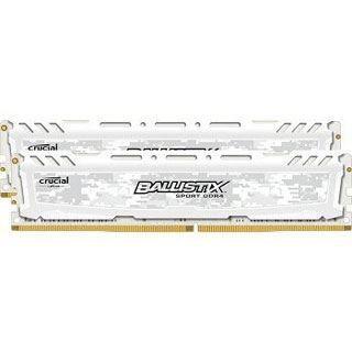 16GB Crucial Ballistix Sport LT weiß Dual Rank DDR4-2400 DIMM