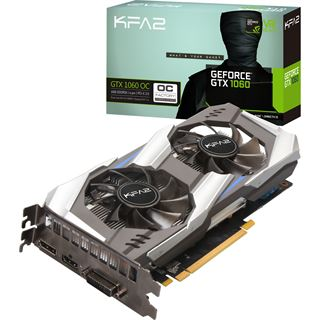 6GB KFA2 GeForce GTX 1060 OC Rev. 2.0 Aktiv PCIe 3.0 x16 (Bulk)