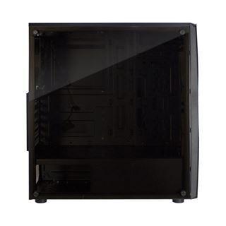 Inter-Tech Thunder mit Sichtfenster Midi Tower ohne Netzteil schwarz