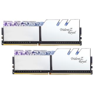 16GB G.Skill Trident Z Royal silber DDR4-3200 DIMM CL14 Dual Kit