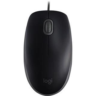 Logitech OEM B110 Maus USB schwarz (kabelgebunden)