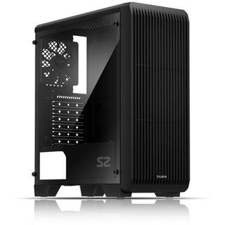 Zalman S2 mit Sichtfenster Midi Tower ohne Netzteil schwarz