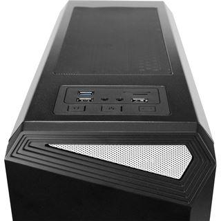 Antec NX100 schwarz mit Sichtfenster Midi Tower ohne Netzteil schwarz