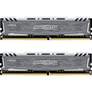 16GB Crucial Ballistix Sport LT V2 Single Rank grau DDR4-3000 DIMM