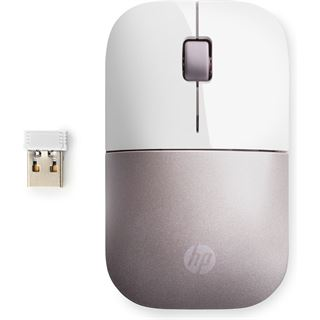 HP Z3700 Wireless Mouse 2.4 GHz weiß/pink (kabellos)