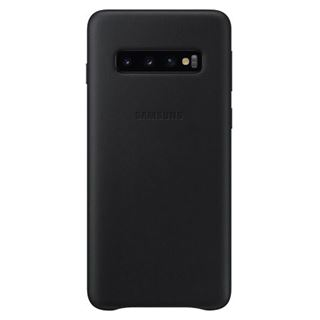 Samsung Leather Cover SM-G973F / Galaxy S10, schwarz