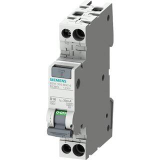 Siemens FI/LS-Schutzschalter 2p B16 0,03A 230V A 6kA 1TE 1p