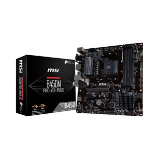 MSI B450M Pro-VDH Plus AMD B450 So.AM4 Dual Channel DDR4 mATX Retail