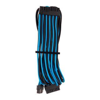 Corsair Premium Sleeved 24-Pin-ATX-Kabel (Gen 4), blau/schwarz