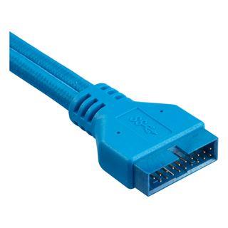 Corsair Premium Sleeved Frontpanel Kabel Verlängerungskit, blau