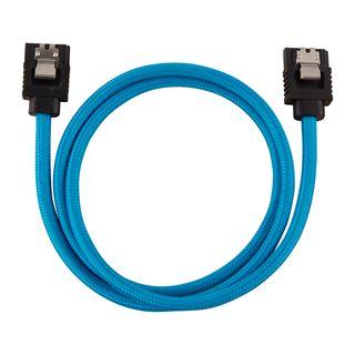 Corsair Premium Sleeved SATA-Kabel 60cm, blau