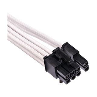 Corsair Premium Sleeved PCIe Dual-Kabel, Doppelpack (Gen 4), weiss