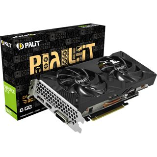 6GB Palit GeForce GTX 1660 Dual OC Aktiv PCIe 3.0 x16 (Retail)
