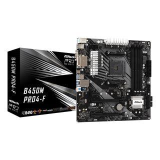 ASRock B450M Pro4-F AMD B450 So.AM4 Dual Channel DDR4 mATX Retail