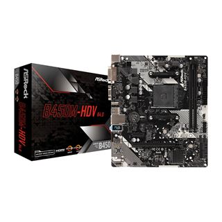 ASRock B450M-HDV R4.0 AMD B450 So.AM4 Dual Channel DDR4 mATX Retail