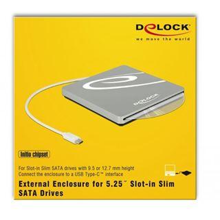 Delock Gehäuse f. 5.25 Slot-in Slim SATA Laufwerke 9,5 / 12,7 mm