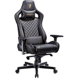 Tesoro Gaming Stuhl Tesoro Zone X F750 Black/Gold Stitch