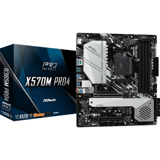 ASRock X570M Pro4 AMD X570 So.AM4 Dual Channel DDR4 mATX Retail