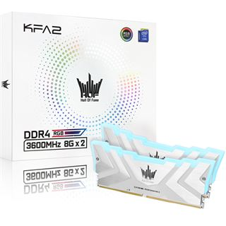 16GB (2x 8192MB) KFA2 Hall Of Fame II Extreme DDR4-3600 CL17-18-18-38