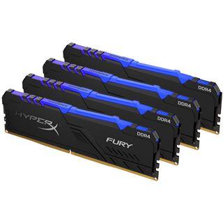 32GB HyperX FURY RGB DDR4-3000 DIMM CL15 Quad Kit