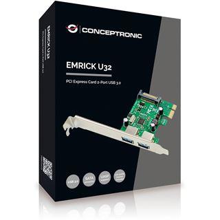 Conceptronic PCI Express Card 2 Port USB-3.0 Emrick U34