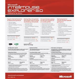 Microsoft IntelliMouse Explorer 3.0 Optische Maus Schwarz USB