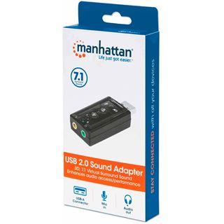 Manhattan Hi-Speed USB 2.0 - 3D 7.1 Sound Adapter schwarz