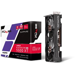 8GB Sapphire Radeon RX 5500 XT Pulse Aktiv PCIe 4.0 x16 (Retail)