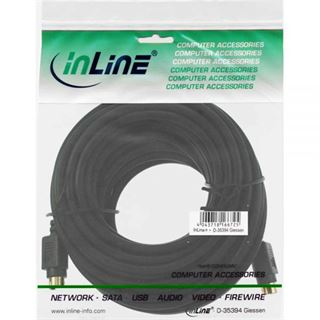 (€0,79*/1m) 10.00m InLine S-VHS Anschlusskabel 4pol Stecker auf