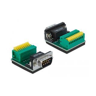 Delock Adapter Sub-D 9 Pin Stecker zu Terminalblock 9 Pin mit