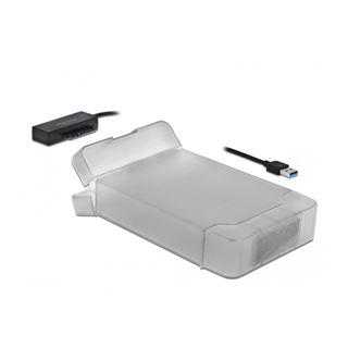 "Delock USB-A zu SATA Konverter mit 3.5"" Schutzhülle"