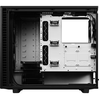 Fractal Design Define 7 Black and White Tempered Clear Tint Glass