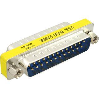 InLine Seriell Mini Gender Changer D-Sub 25pol Stecker auf D-Sub