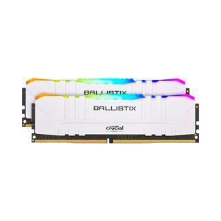 16GB (2x 8192MB) Crucial Ballistix RGB weiss, DDR4-3600MHz DIMM,
