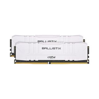 32GB (2x 16384MB) Crucial DDR4-2666MHz CL16, Dual-Kit, weiss