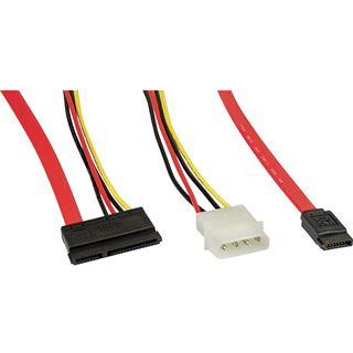 (€9,80*/1m) 0.50m InLine SATA Anschlusskabel SATA Stecker +