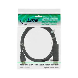 7.50m InLine DisplayPort zu HDMI Konverter Kabel, schwarz