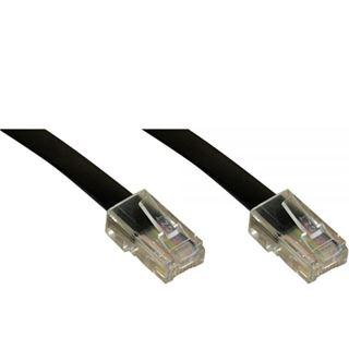 6.00m InLine ISDN Anschlusskabel RJ45 Stecker auf RJ45 Stecker Schwarz