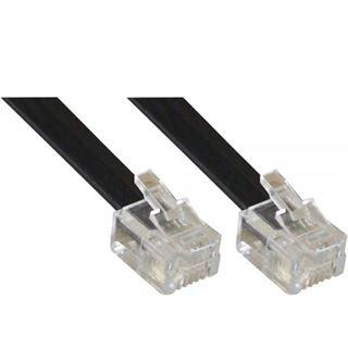 (€0,49*/1m) 10.00m InLine Telefon Anschlusskabel RJ11 Stecker