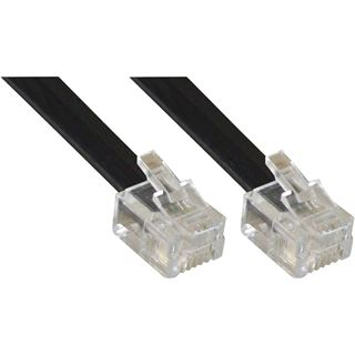(€0,78*/1m) 5.00m InLine ISDN Anschlusskabel RJ12 Stecker auf